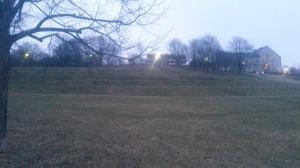 Backe i en park i Oslo. Perfekt för intervaller